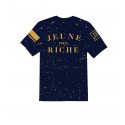 T-shirt Zongo Navy Tâches Or